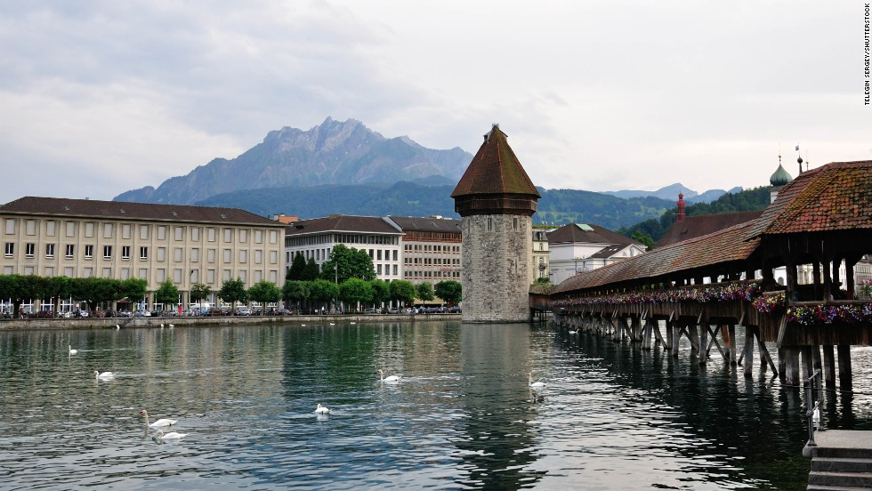 Chapel Bridge, Lucerne, Switzerland.