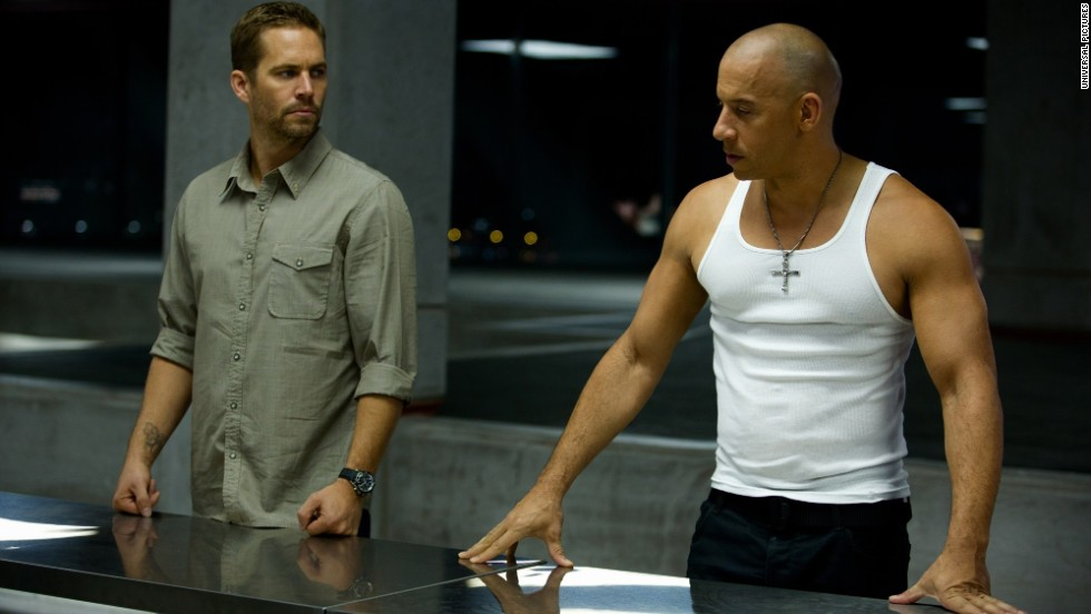 "Walker's role as Brian O'Conner in the ""Fast & Furious"" franchise (here with Vin Diesel in the sixth film) helped make the actor a star."