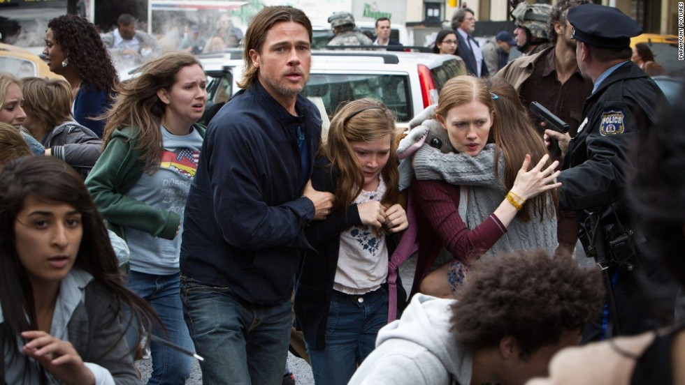 "Brad Pitt's anticipated zombie flick ""World War Z"" opens today, along with Walt Disney Pictures' ""Monsters University."""