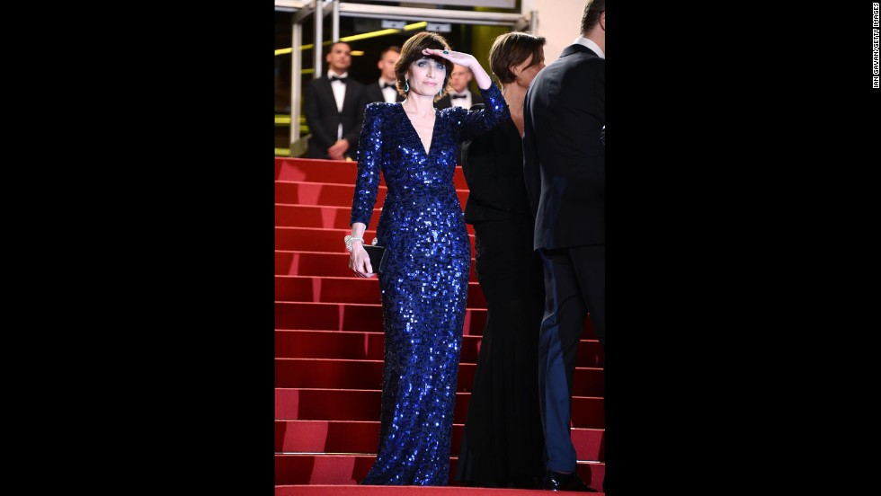 "Kristin Scott Thomas attends the Cannes premiere of ""Only God Forgives"" on May 22."