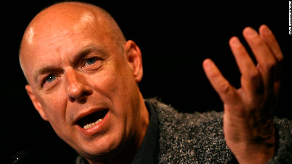 "Composer and musician Brian Eno refers to himself as an ""evangelical atheist."" <a href=""http://www.youtube.com/watch?v=2shEwFjhzA4"" target=""_blank"">In 2007, he told the BBC</a>, ""What religion says to you, essentially, is that you're not in control. Now that's a very liberating idea. It's quite a frightening idea as well, in some ways."""