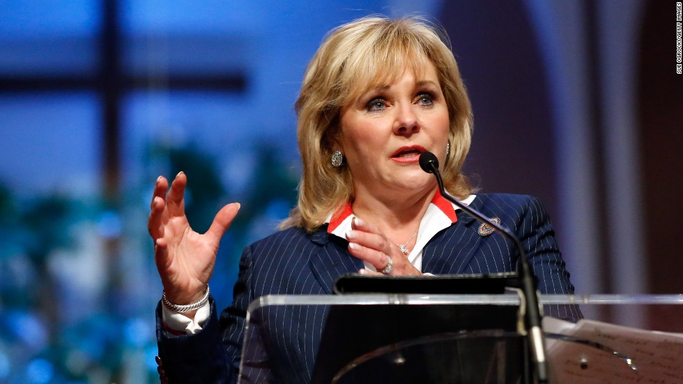 Oklahoma Gov. Mary Fallin addresses the audience on May 26.