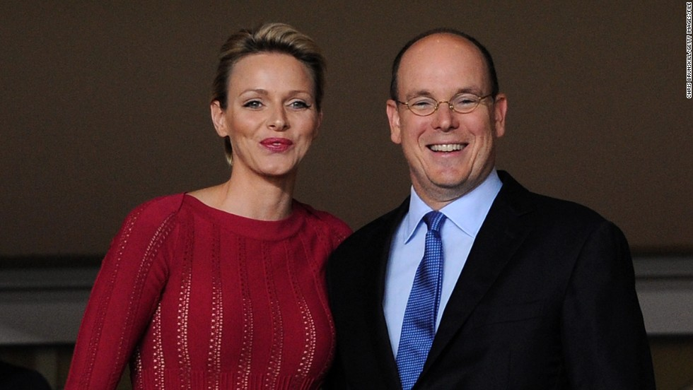 Monaco might not attract big crowds, but they do have some regal supporters, notably club patron Prince Albert II of Monaco, who is pictured here with his wife Princess Charlene.