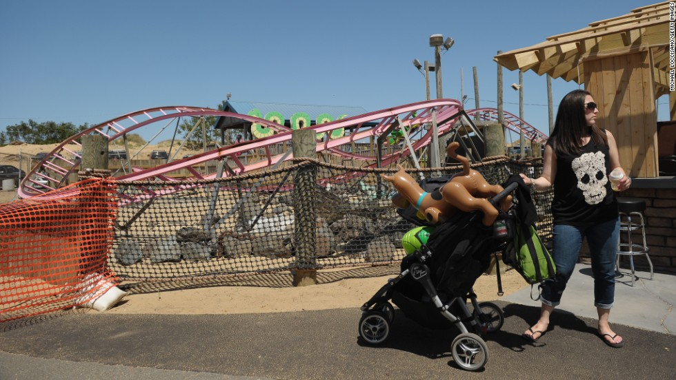 The Keansburg Amusement Park in Keansburg, New Jersey, was heavily damaged by Sandy but has largely been restored. It officially reopened on May 18.