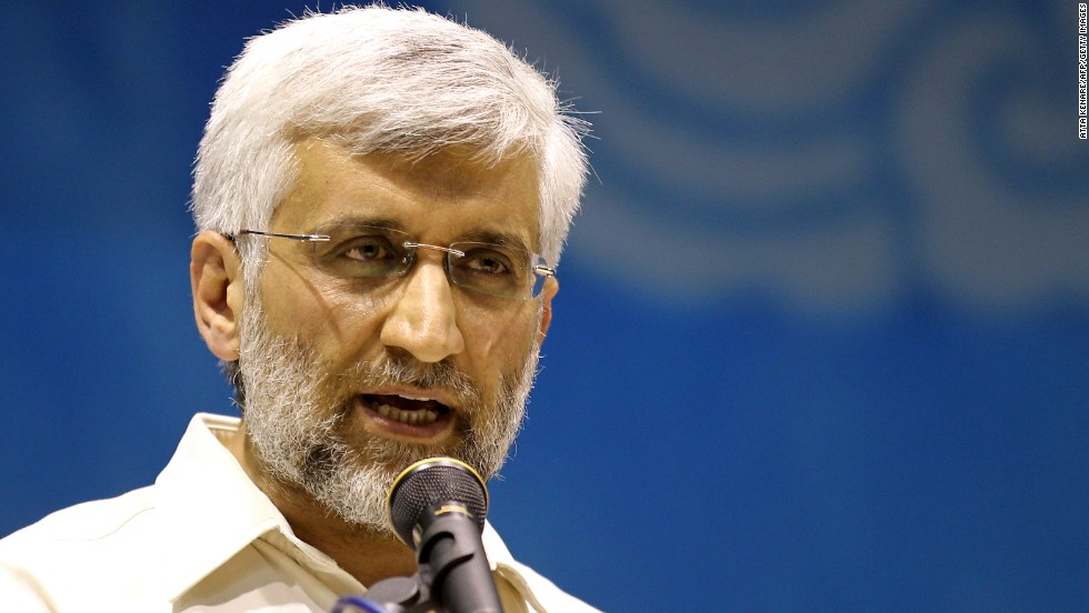 Saeed Jalili is Iran's chief nuclear negotiator and represents Iran in talks with the European Union.