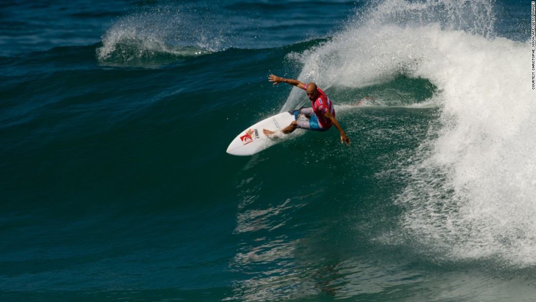 Slater surfs during the first day of ASP world tour Billabong Rio Pro 2013 at Barra de Tijuca beach in Rio de Janeiro, Brazil, on May 09, 2013.