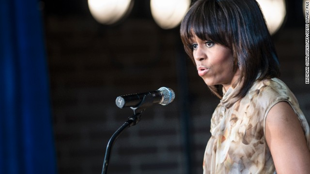 Hear Michelle Obama respond to heckler
