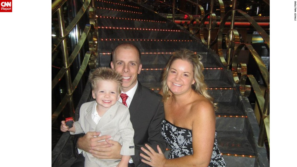 Tripp turned 2 on September 11, 2012. That month he and his parents, Stacey and Bill, went on a cruise to the Bahamas. Here they are on the Carnival Ecstasy.