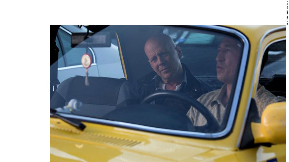 "The traffic is always horrendous when time is of the essence. Unless, of course, the star needs a parking space, as those are always readily available. Here, Bruce Willis as John McClane in ""A Good Day to Die Hard"" tries to make it to his destination."