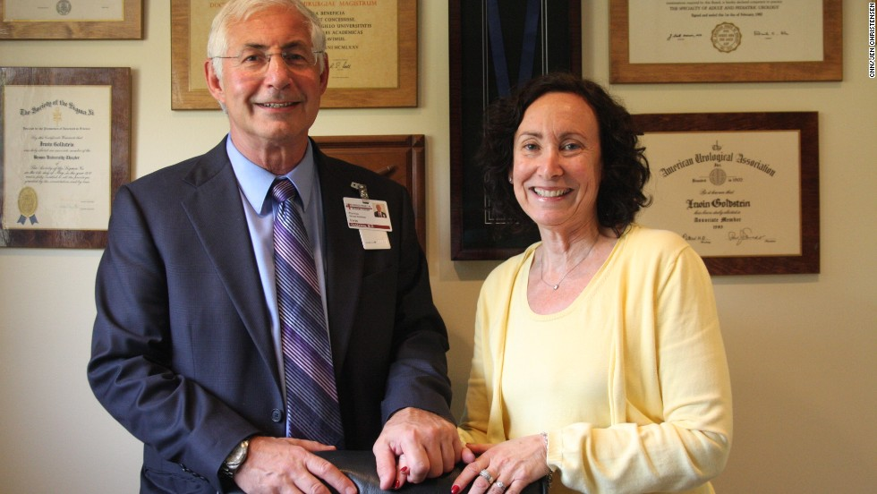 "Goldstein and his wife of 38 years, Sue, who is program coordinator for San Diego Sexual Medicine. On the wall behind them are some of Goldstein's awards; in 2009, he received the gold medal from the <a href=""http://www.worldsexology.org/"" target=""_blank"">World Association of Sexual Health</a> for his lifetime achievements in sexual medicine."
