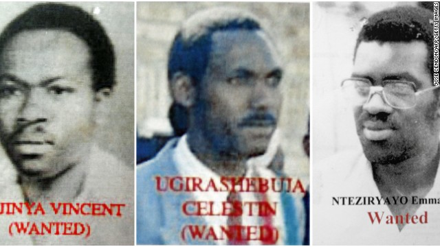 (File) Combo photo released 07 November 2006 by Kigali's prosecutor office shows pictures of three of the men arrested.