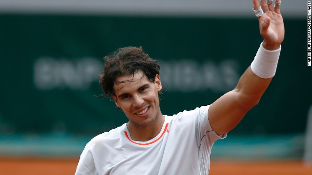 Rafael Nadal was all smiles on court after his win at the French Open on Friday, but he wasn't so happy later.