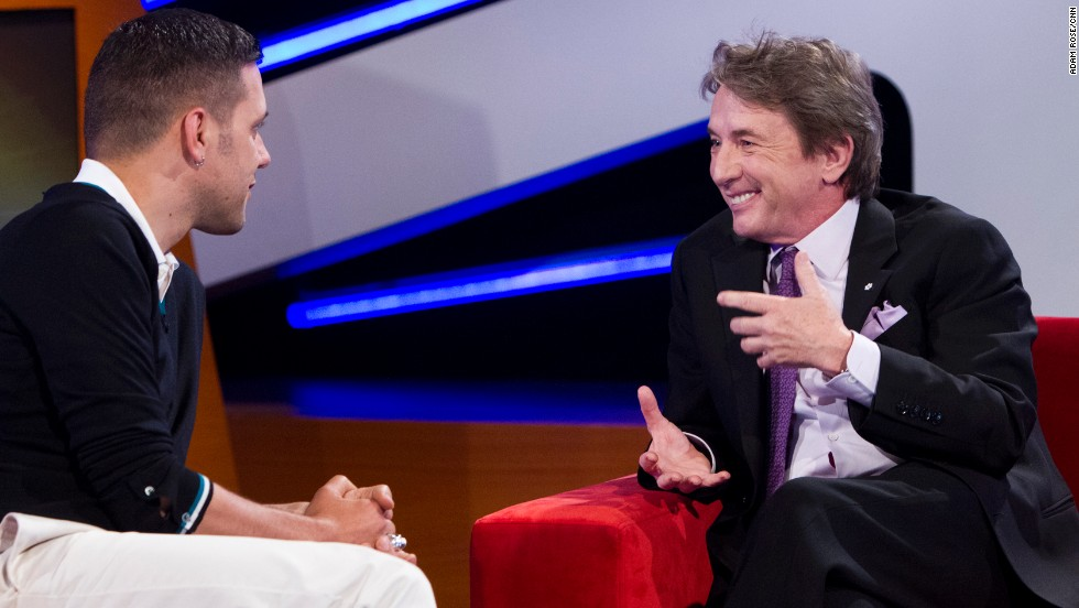 "Martin Short was the first guest booked on ""Stroumboulopoulos."""