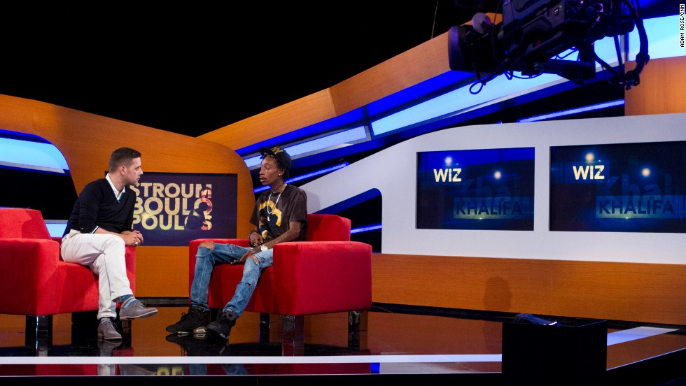 "Rapper Wiz Khalifa is a guest on the first episode of ""Stroumboulopoulos."""