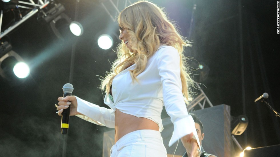 Mariah Carey performs during Hot 97's Summer Jam concert in New Jersey on June 2.