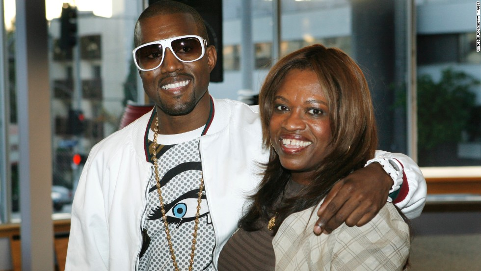 "The rapper was very close to his mother, teacher and author Donda West,  who died after surgery in 2007. He may want to pay tribute to her as she was <a href=""http://www.cnn.com/2007/SHOWBIZ/Music/11/12/west.mother/index.html"" target=""_blank"">extremely influential in his life</a> and inspired his song ""Hey Mama."" Here the pair appear at a signing for her book, ""Raising Kanye: Life Lessons from the Mother of a Hip-Hop Superstar"" in Los Angeles in 2007."