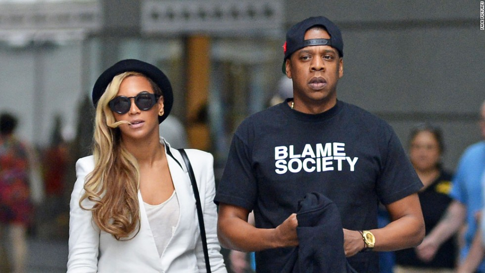 Beyonce and husband Jay-Z go for a stroll in New York on June 2.