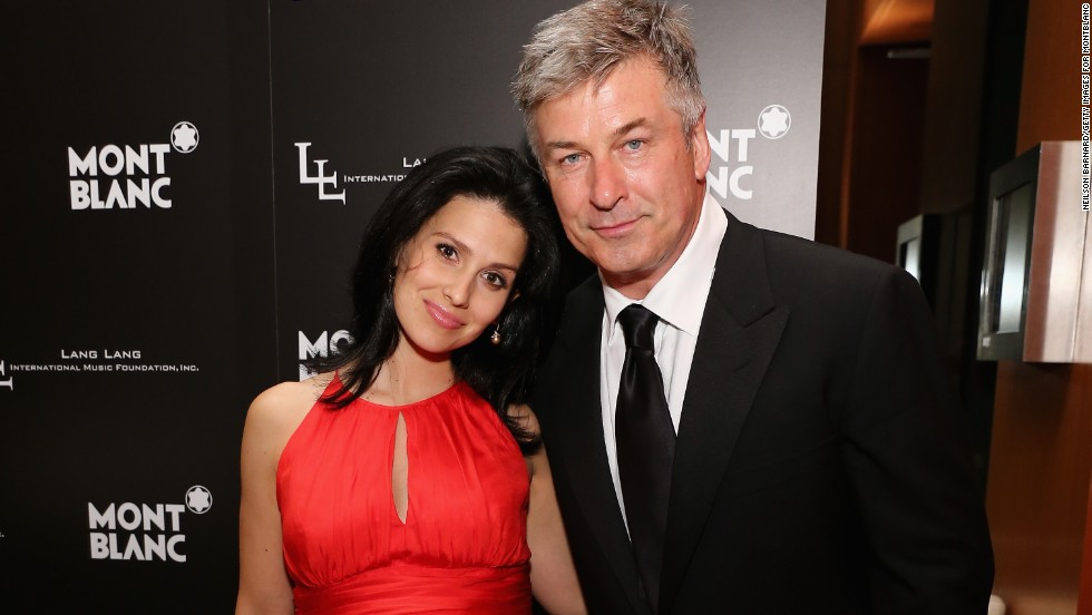 Alec Baldwin and wife Hilaria Thomas attend the Lang Lang International Music Foundation Inaugural Gala in New York on June 3.