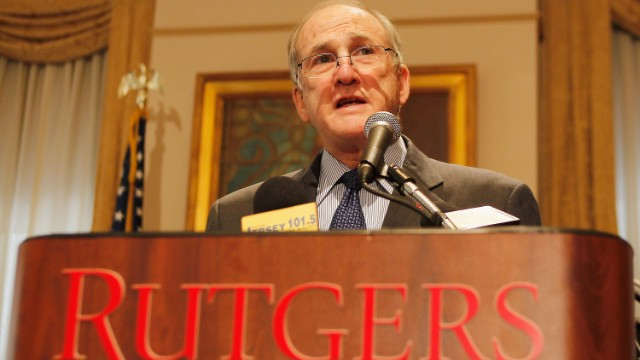 Rutgers University President Robert Barchi, above, was aware of the litigation against Gregory Jackson when he appointed him.