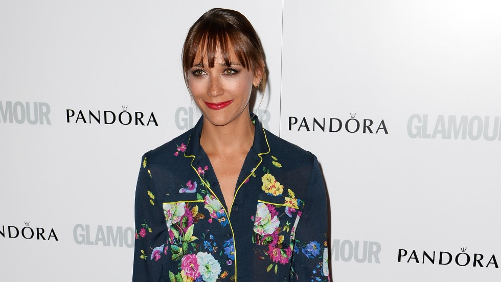 Rashida Jones dons a floral print for the Glamour Women of the Year awards in London on June 4.