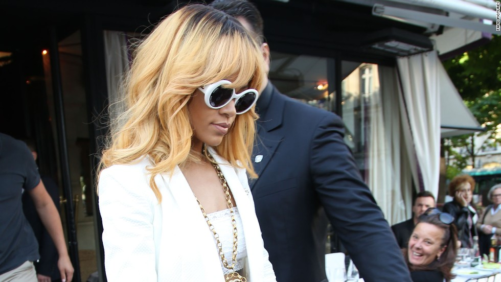 Rihanna steps out in Paris, France on June 5.
