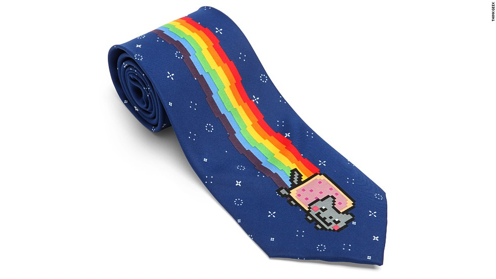 "Was Dad an early Internet adopter? Are you fond of cliches? If you answered ""yes"" to both, this is the gift for you. <a href=""http://www.thinkgeek.com/product/f337/"" target=""_blank"">ThinkGeek</a> is offering up the Nyan Cat tie -- combining the most predictable Father's Day gift ever with one of<a href=""http://knowyourmeme.com/memes/nyan-cat-pop-tart-cat"" target=""_blank""> the Web's most beloved icons</a>. Of course, this will only work with a dad who thinks animated, 8-bit cats with Pop Tart bodies are funny. But, really, who doesn't?<strong> Price: $9.99</strong>"