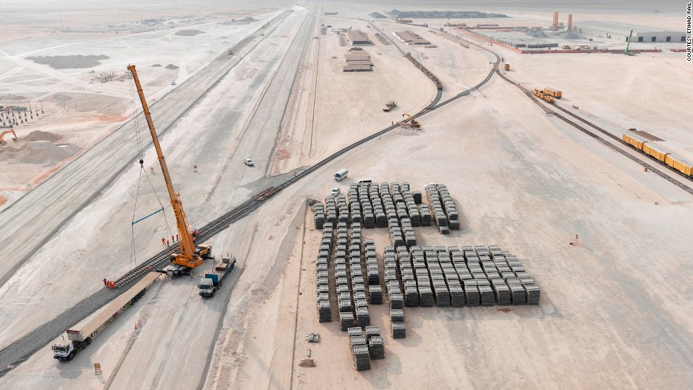 The 1,200 kilometer Etihad Rail network will extend across the desert hinterland of the United Arab Emirates, costing a cool $11 billion and enhancing freight and passenger transport infrastructure across the country.