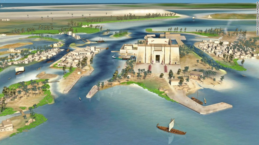 Artists rendition of the city of Heracleion.
