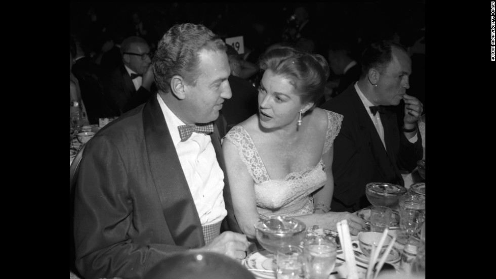 Williams with Gage at the Golden Globe Awards on February 27, 1956.