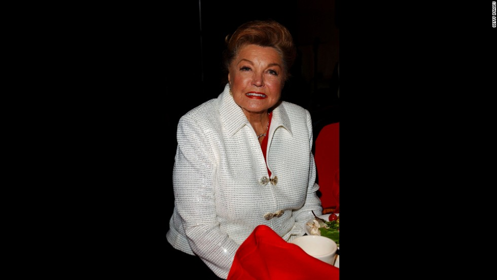 Williams attends Tony Martin's 90th birthday party at the Friars Club in Beverly Hills on December 7, 2003.