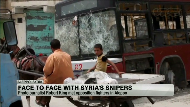 Face to face with Syria's snipers