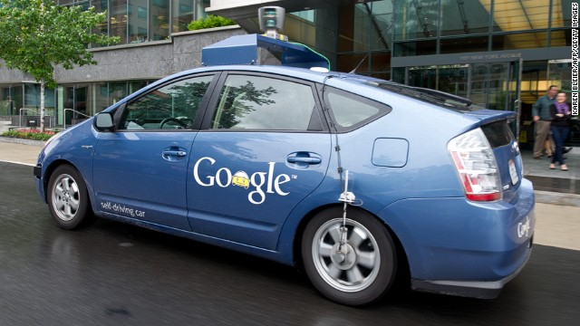 Google's self-driving car includes laser technology that creates a 3-D map of its surroundings.