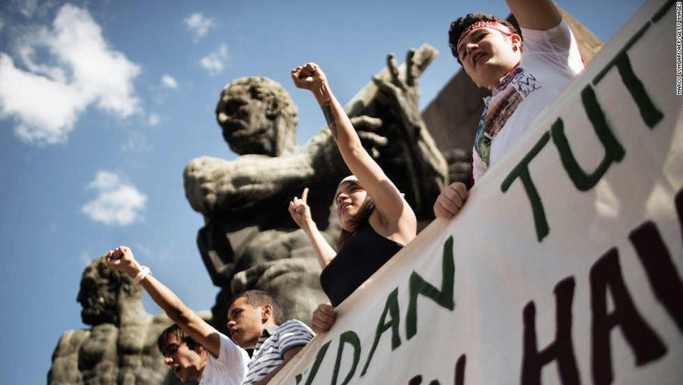 Demonstrators shout slogans as they gather at Kizilay Square in Ankara, Turkey, on June 8.