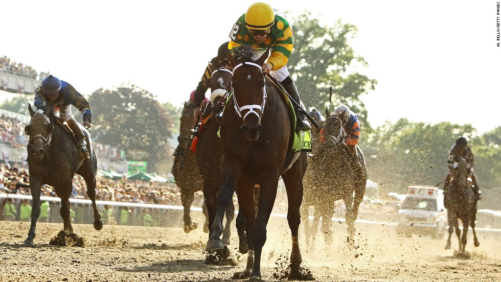Palace Malice front and center during the race.