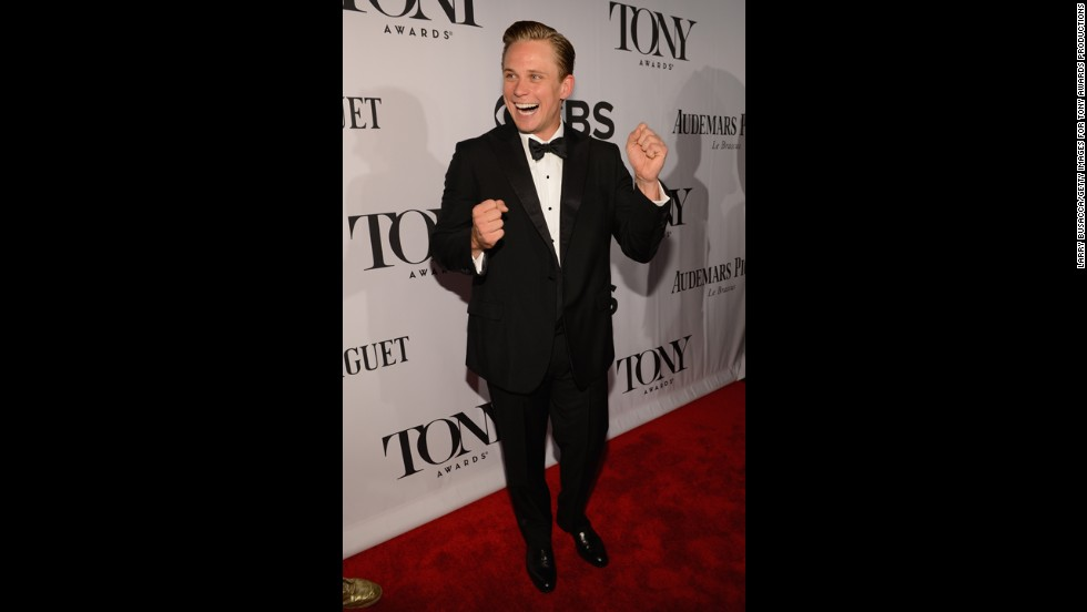 Billy Magnussen enjoys himself on the red carpet.