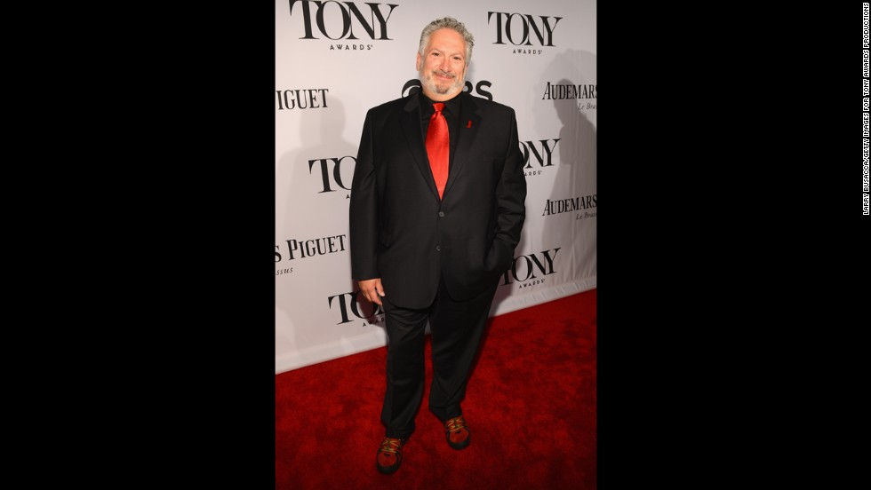 "Harvey Fierstein, Broadway veteran and Tony nominee for ""Kinky Boots,"" arrives for the show."