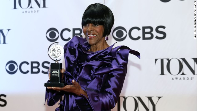 Cicely Tyson won the award for Best Performance by a Leading Actress in a Play for 'The Trip to Bountiful' in The 67th Annual Tony Awards at Radio City Music Hall.
