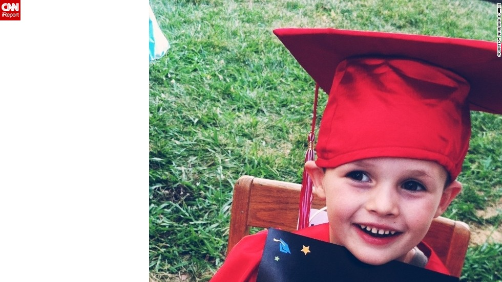 "<a href=""http://ireport.cnn.com/docs/DOC-983716"">Ashton Downie</a> was one of three graduates from B&B Love and Care Center in Roseville, California. After the ceremony, the preschool held an ice cream social reception and provided a bounce house for the children to play in. They had much to celebrate! This year, Ashton learned to clearly write his name (first and last), and he recognizes all upper- and lower-case letters and can count to 20."