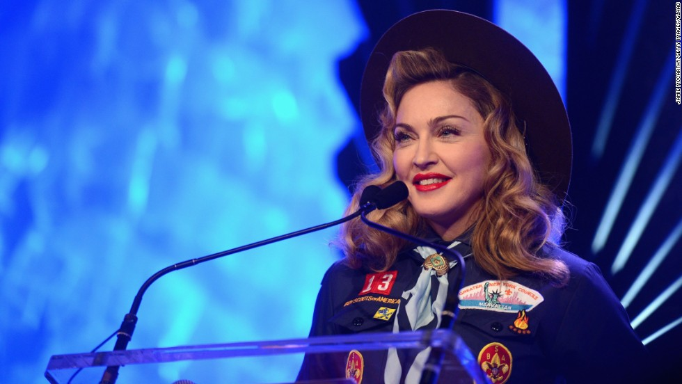 "Pop diva Madonna's name means ""Virgin Mary,"" the woman historically known as the mother of Jesus Christ. Although she was born with the name, religion has played a large part in some of the songstress' tunes, such as ""Like a Virgin"" and ""Like a Prayer."""
