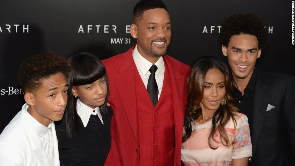 "Will Smith attends the ""After Earth"" premiere in New York  in May with his kids Jaden, Willow and Trey and his wife, Jada Pinkett Smith."