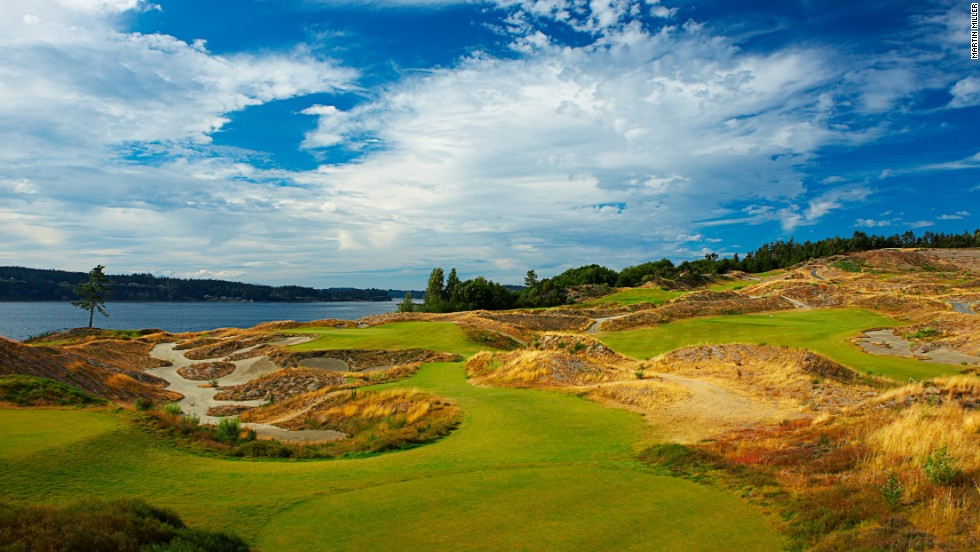 Designed by Robert Trent Jones Jr. and opened for play in 2007, this 7,165-yard, par 72 stunner on the shores of Puget Sound hosted the 2010 U.S. Amateur. It will host its first U.S. Open in 2015. Green fee: $219.