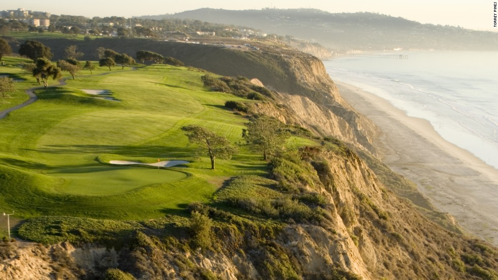 Tiger Woods won the 2008 U.S. Open at Torrey Pines after hobbling his way around the course with a knee injury, then dispatching Rocco Mediate on the first sudden-death playoff hole. Green fee: $183.