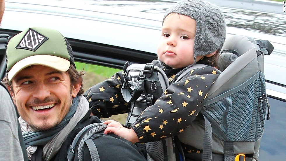 Orlando Bloom goes hiking with his son, Flynn, in the Hollywood Hills in December.