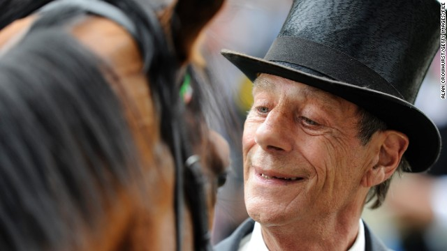 Horse trainer Henry Cecil pictured with the now retired Frankel at Royal Ascot in 2012.