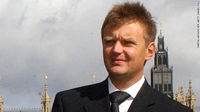 Russian ex-spy and fierce Kremlin critic Alexander Litvinenko is shown in London in September 2004.