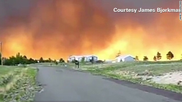 Wildfires blazing in Colorado