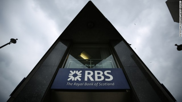 A branch of The Royal Bank of Scotland on April 3, 2013 in London, England.