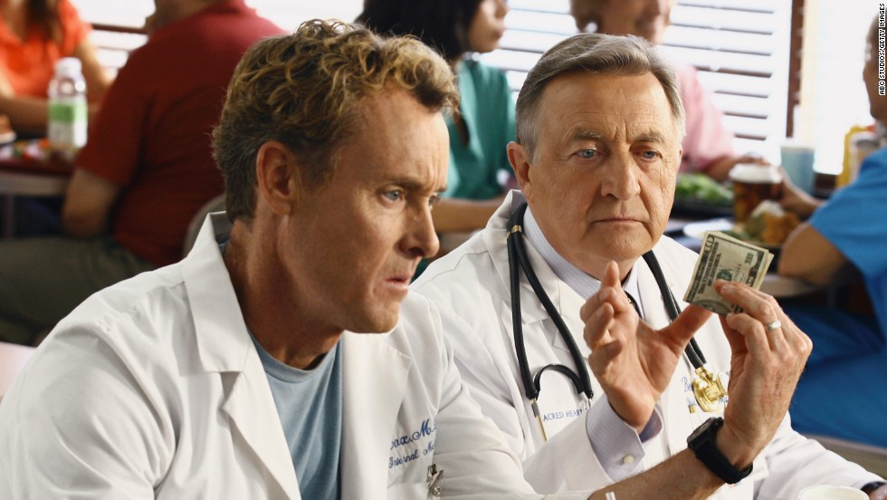 "Sometimes it seems like doctors were actually put on earth to torture us -- just like bosses. Besides caring much more about profits than patients, Kelso (right) has the emotional intelligence of cardboard, or about average for a Fortune 500 CEO. Favorite quote: ""It's not my job to care"""