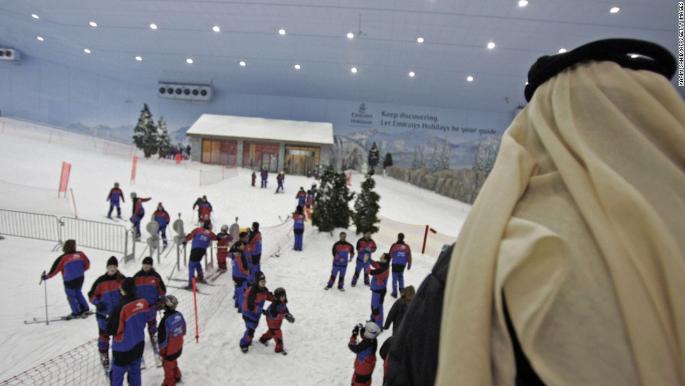 Dubai has also been an innovator when it comes to creating adventure parks within retail settings. Ski Dubai, a 22,500 square-meter indoor ski resort, is a a feature inside the Mall of the Emirates.