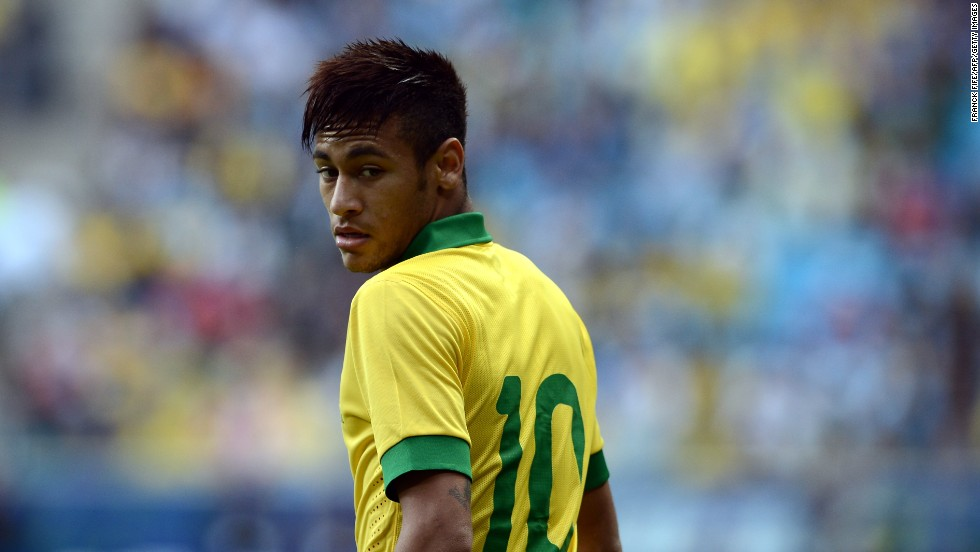 The latest Brazilian tipped for stardom is Neymar, who recently followed in Ronaldinho's footsteps by joining Barcelona. All eyes will be on the forward when Brazil host the World Cup in 2014. Neymar has made a good start to Brazil's Confederations Cup campaign, scoring two goals in two matches.